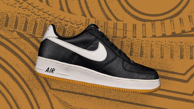 Air Force 1 Low Courir Black/Gum sneaker