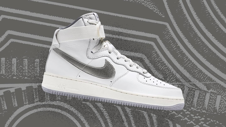 Air Force 1 High White/Silver sneaker